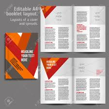 Design Spreads A4 Book Geometric Abstract Layout Design Template With Cover