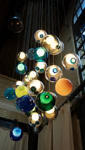 amazing glass ball chandeliers add to bocci s credibility