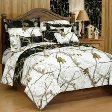 wonderful camo bed sets with 2 black and white pillowcases and queen size woodland pattern comforter