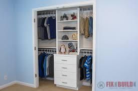 diy closet organizer with shelves and