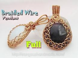 how to make wrapping big stones no holes with braided wire wrap pendant full version slow 354