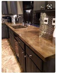 concrete countertops on types of countertops