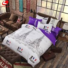whole eiffel tower bedding set duvet cover set pairs bed set london duvet cover violet flat sheet bed cover new york bedclothes bedding sets