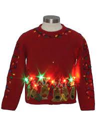 Light Up Christmas Sweater Kids Parisian Unisex Kids Multicolor Lightup Ugly Christmas Sweater