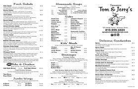 Sycamore Tom and Jerry's - Menu