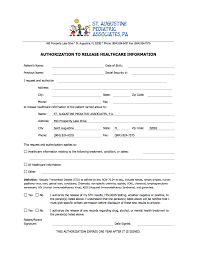 Medical Records Request Forms St Augustine Pediatric Associates 7