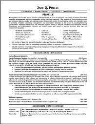Sample Resume Hr Generalist Professional Resume Templates