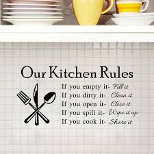 our kitchen rules wall sticker