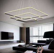 royal pearl modern square led chandelier adjule hanging light
