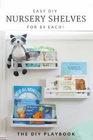 Affordable Bookshelves easy diy nursery bookshelves for under 4 each 4834 by uwakikaiketsu.us