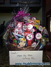 40 gifts for 40th birthday basket