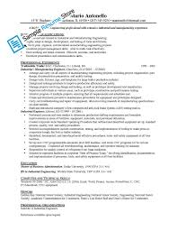 Resume Industrial Engineering Resumes Regularguyrant Best Resume