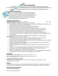 Industrial Engineering Internship Resume Objective Engineering Resume  Samples To Jumpstart In Your Career Industrial Engineering Resume