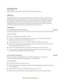 Warehouse Manager Resume Summary Typical Warehouse Manager Resume Objective Warehouse Summary 3