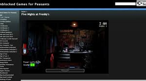 five nights at freddy s unblocked games for peasants