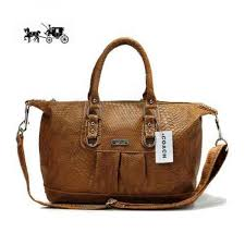 Coach Embossed Medium Brown Satchels DDV Outlet Sale VIP Shop