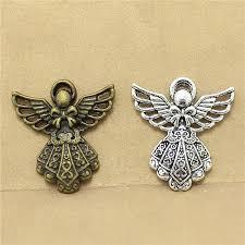 Sweet Bell free shipping <b>40pcs</b>/<b>lot</b> 23*26mm two <b>color</b> alloy Angel ...