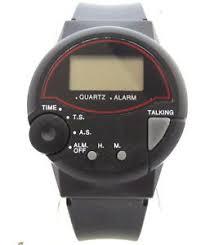 retro bold black plastic electronic talking watch 4 blind men 039 image is loading retro bold black plastic electronic talking watch 4