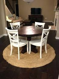 round rustic dining table tables farmhouse dark brown finished of wooden circle room decorating ideas round rustic dining table