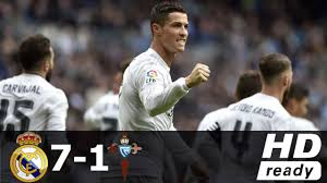Real Madrid vs Celta Vigo 7-1 - All Goals & Extended Highlights - La Liga  05/03/2016 HD - ARYSports.tv