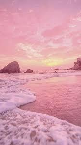 Pastel Pink Beach Wallpaper Iphone