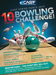Bowling Event Flyer Construction Of South Florida Casf 10th Annual Bowling