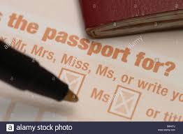 uk british passport application form filling in stock photo stock photo uk british passport application form filling in