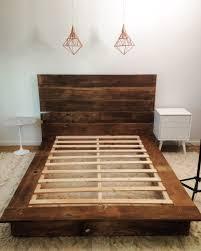 Homemade Wooden Bed Designs Diy Reclaimed Wood Platform Bed Diy Bed Frame Diy