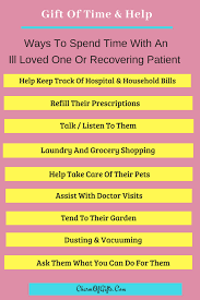 things you can do for a sick or reering loved one