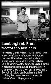 By the early 1960s, lamborghini had become almost as powerful and wealthy as ferrari. Enzo Ferrari And Ferruccio Lamborghini Story