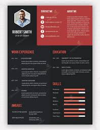Simple Creative Resume Templates Psd Free Download Creative