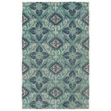 weathered teal 8 ft x 10 ft indoor outdoor area rug