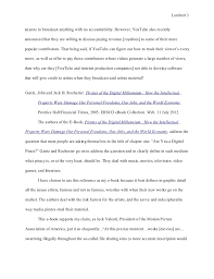 essay annotated bibliography revised final copy   allowing 3