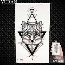 черный цветок моли временные татуировки наклейки женщины боди арт лиса