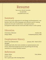 Select Template A sample template of a Notepad resume