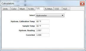 Hydrometer Reading Chart Miscellaneous Parts