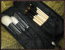 review bh cosmetics 10 pcs deluxe makeup brush set wood color