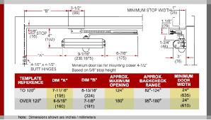 door closer installation. parallel arm installation / 500 series application drawings door closer r