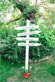 garden sign ideas directional wedding sign ideas creative garden sign ideas