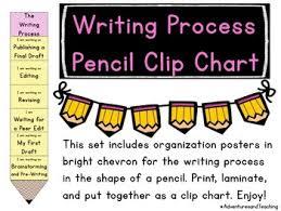 Writing Process Clip Chart Chevron Pencil Writing Process Clip Chart Writers Workshop