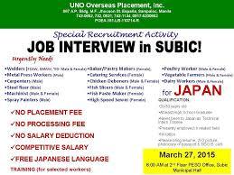 Job Openings In Japan March 2015