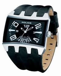 men s watches brand new police men s black leather reactangle brand new police men s black leather reactangle dial date watch pl 12079js 02 stunning model