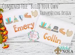 Mini Turkey Embroidery Design Combined File Of 6 Mini Sketch Fill Thanksgiving Designs