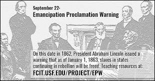 Image result for Emancipation Proclamation