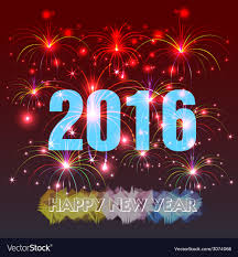 happy new year 2016 with fireworks. Contemporary New Throughout Happy New Year 2016 With Fireworks W