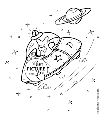 Small Picture spacecraft coloring pages with alien for kids printable free