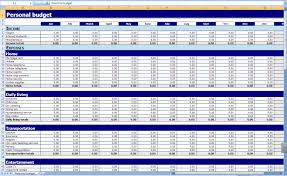 Monthly Household Budget Excelt Template Business Event Worksheet