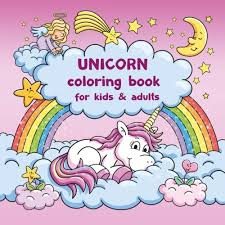 Amazoncom Unicorn Coloring Book For Kids And Adults Bonus Free