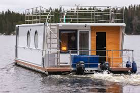Houseboat Images Catamaran Houseboat Outboard Double Terrace Deck 6 Person