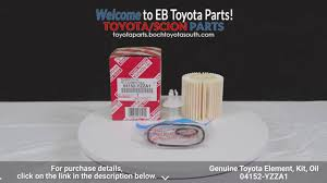 genuine toyota element kit oil 04152 yzza1 boch toyota south parts